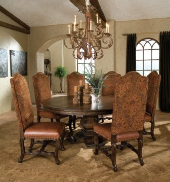 tables in round and rectangular models table bases and dining chairs