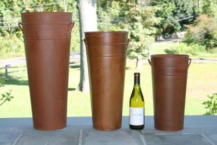Tall Metal Flower Buckets