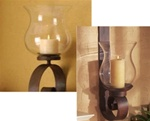 Wrought iron candle wall sconce replacement hurricane glass