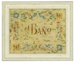 El Bano Framed Bathroom Print