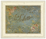 La Toilette Framed Bathroom Print