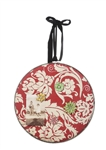 Red Floral Cork Board Memo Hoop