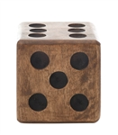 Mango Wood Dice - Wooden oversized Dice - Creative Co-Op
