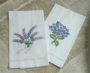 Embroidered Guest Towel Fine Cotton Decorative Hand Towels