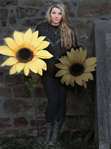 "Giant Paper Sunflowers - Large Yellow 26"" Diameter"