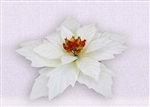 Large Faux Poinsettia White - Christmas Holiday Decor