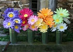 Large paper Gerbera daisy flowers - Buy Giant Paper Flowers - Oversized Party Flowers