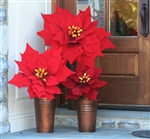 Large Faux Poinsettias