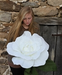 Giant White Paper Rose