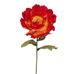 Oversized Giant Paper Peony Flower X-Large Flame