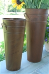 Rust French Flower Bucket 13""