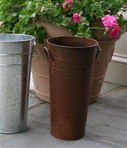 French Flower Bucket 11 Quot Rust Metal Florist Containers