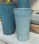 French Flower Bucket - Verdigris - Weathered Antique Copper finish