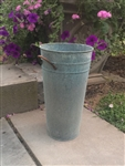 "French Flower Bucket - 18"" Verdigris - Weathered Antique Copper finish"