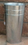"Galvanized French Flower Bucket 18"" - Florist Buckets"