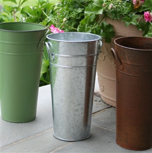 11 Quot Galvanized Mini French Flower Bucket Metal Floral