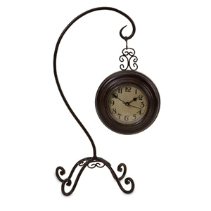 Tall Scroll Hanging Clock
