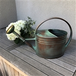 Verdigris Copper Oval Watering Can - Decorative Vases -