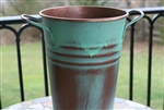 Copper French Flower Buckets - Decorative Vases - Galvanized Tall Pails