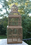 Tower Tall Decorative Birdcage - Three story Wooden Birdcage