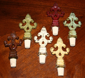 Vintage Acorn Finial Wine Bottle Stoppers