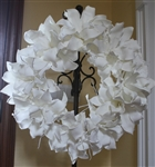 White Foam Flower Wreath - Permanent Floral Wedding Decor - Large Decorative Flowers
