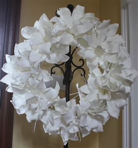 White Foam Flower Wreath Permanent Floral Wedding