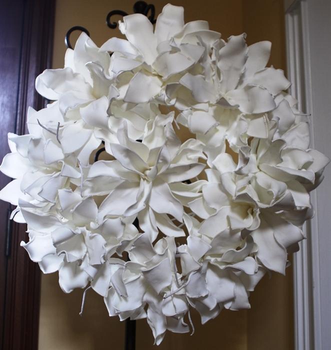 White Foam Flower Wreath Permanent Floral Wedding