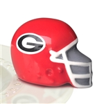 Nora Fleming University Georgia Football Helmet Mini - Bulldog Football