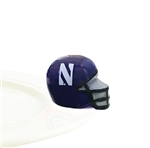 Nora Fleming Northwestern Football Helmet Mini - Wildcats Football