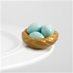 Nora Fleming Bird's Nest Mini - Robin's Egg Blue