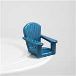 Nora Fleming Blue Adirondack Chair Mini - Chillin Chair