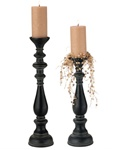 Tall Turned Candlesticks