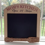 Mom's Kitchen Arched Chalk Board