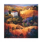 Weatherprint Evening Glow Tuscany Outdoor Art - Weatherproof Canvas Art Print