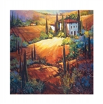 Weatherprint Morning Light Tuscany Outdoor Art - Nancy O'Toole Weatherproof Canvas Art Print