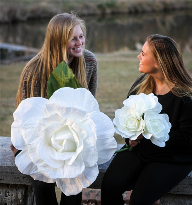Giant Paper Rose Flower Oversized Roses First Anniversary Or