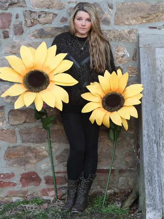 giant paper sunflowers - large decorative flowers