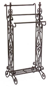 Finial Twist Blanket Stand Wrought Iron Quilt Rack