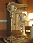 Glass Globe Candlesticks