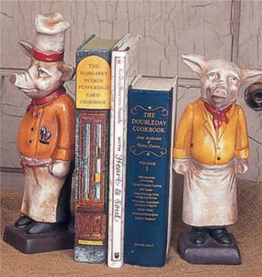 Chef Pig Bookends French Country Kitchen Decor